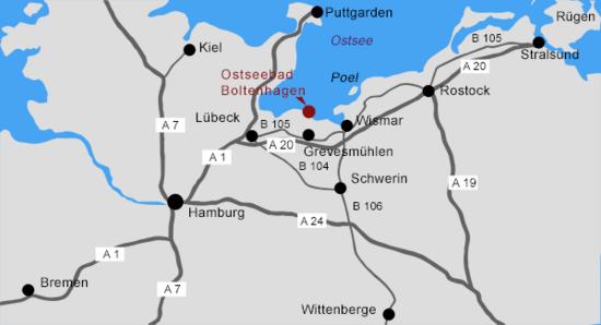 Lage Villa Wagenknecht Boltenhagen