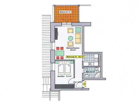 Grundriss   Ferienwohnung 15   Villa Wagenknecht